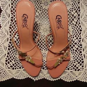 Carlos Santana Strappy Heeled Sandals